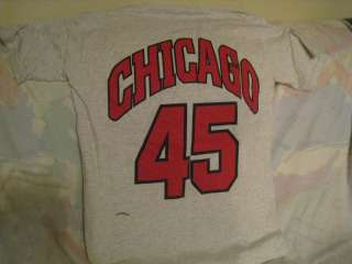 Vintage Adults Medium Chicago Bulls Michael Jordan #45 Gray Tee Shirt