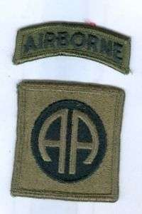 US ARMY PATCH   82ND AIRBORNE DIVISION   SUBDUED