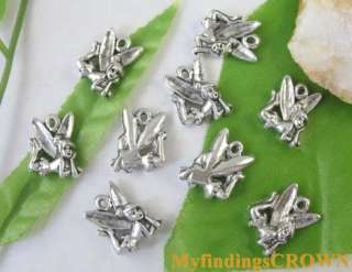 40pcs Tibetan Silver tiny fairy charms 17x13mm FC8317