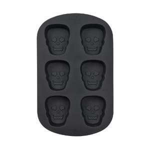 Wilton Silicone Mold Scary Skulls 6 Cavity; 3 Items/Order
