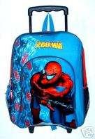 Spiderman Rolling Backpack on wheels Large Spider man