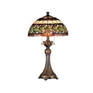 Dale Tiffany TT101110 Aldridge 2 Light Table Lamp in Antique Bell