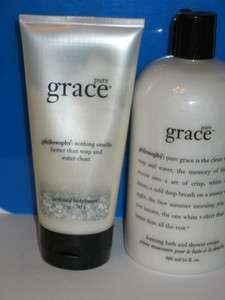 Philosophy pure grace foaming bath shower cream & perfumed body butter