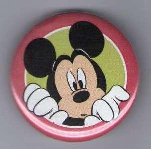 Button Pin Badge Disney Mickey Mouse Peek a Boo