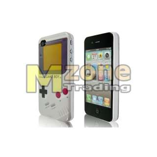 Gray Game Boy Hard Case Cover For iPhone 4 4GS + Screen Protector