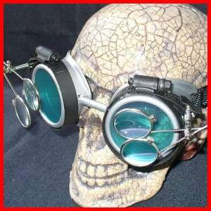Steampunk Goggles Glasses cyber lens SG goth punk RAVE Biker