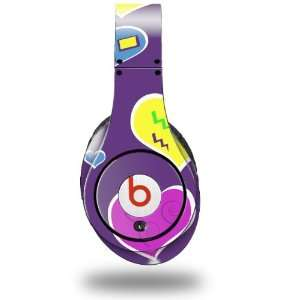 Crazy Hearts Decal Style Skin (fits genuine Beats Studio Headphones