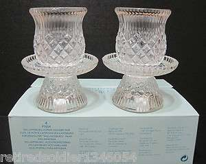 NEW Retired PartyLite Willamsburg Pair Votive Tea Light & Taper Candle
