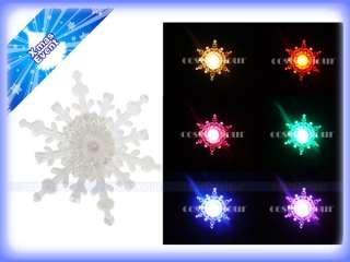 Snow Flake LED Light Window Christmas Ornament Night