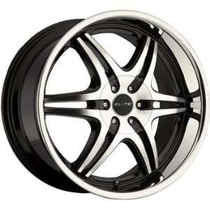 Elite Sport Six 22x9 Black Wheel / Rim 5x5 & 5x135 with a 15mm Offset