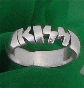 ANY NAME ;PERSONALIZED STERLING SILVER RING,custom made
