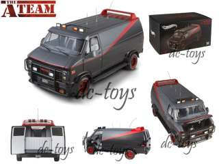 Hot Wheels Elite V7439 The A Team GMC Classic Van 118 TV Series Black