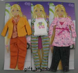 Lot 3 pcs Barbie Dolls clothes Accessories IA64