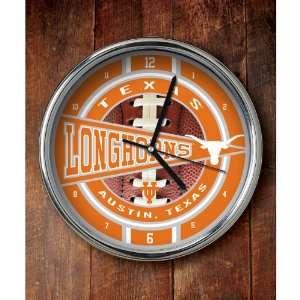 Memory Company Texas Longhorns Chrome Clock  Sports