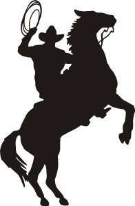 Cowboy Horse Western Vinyl wall art Decal Stickers