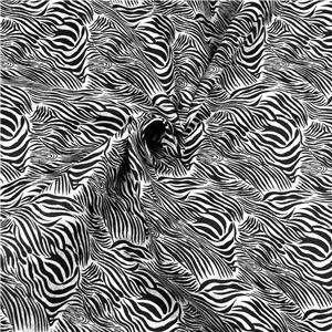FabriQuilt Cotton Fabric Black & White Zebra Design FQs