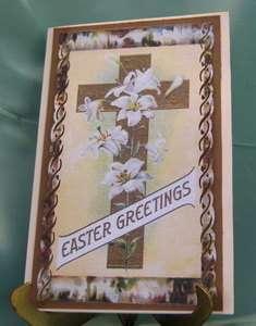 Handmade Greeting Card   Vintage Easter Greetings
