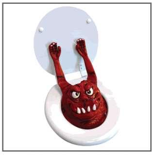 Toilet Monster   Red, Scary Bathroom Gag Joke Prank