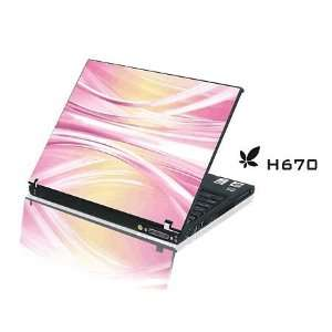 15.4 Laptop Notebook Skins Sticker Cover H670 Pink Skin
