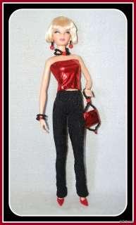 Handmade 6pc FASHION 4 MODEL MUSE BARBIE BASICS DOLL Top Pants Purse