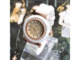 Crystal Ladys Watches Quartz Womens Stylish Wrist Watch White New