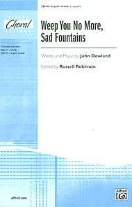 Weep You No More, Sad Fountains sheet music by John Dowland (1563 1626