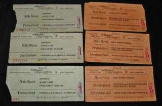 Disney World Magic Kingdom A & B Ticket Admission, Set of 6