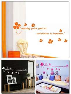 Lucky Clover Decor Mural Art Wall Sticker Decal Y341 (various colors