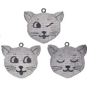 Vintage Crochet PATTERN to make   Pot Holder Kitten Kitty Cat Mat Hot