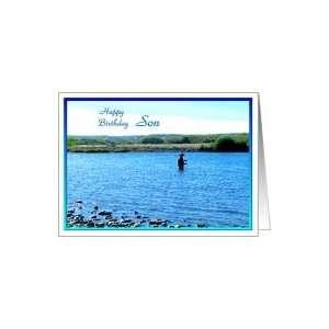 Happy Birthday Son   Gone Fishing Card: Toys & Games