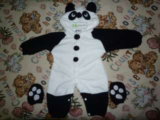 Cute Panda Baby Warmer Costume Sleeping Bag Climb Clothes