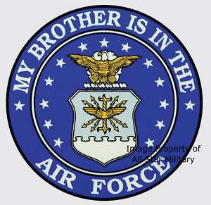 Brother in Air Force Sister Biker Sticker Decal Gift
