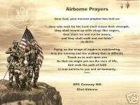 AIRBORNE SOLDIER PRAYER POEM PERSONALIZED PRINT NAME