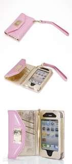 Iphone 3/3GS/4/4S Luxury Leather Wallet Clutch Card Slot Flip Case