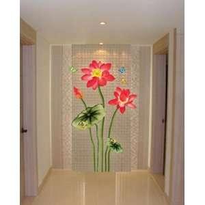 Lotus Flower Wall Paper Home Art Deco Sticker CP 043