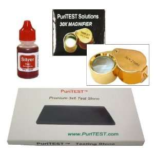 Silver Fineness Testing Set by PuriTEST! Test Jewelry, Antiques, Coins