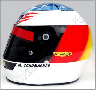 MICHAEL SCHUMACHER 1995 F1 REPLICA HELMET SCALE 11