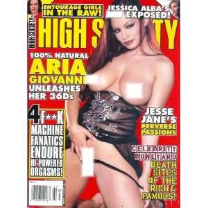 High Society Magazine   February 2006: Aria Giovanni, Ginger
