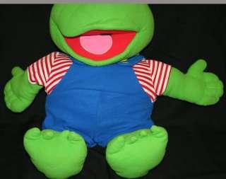 Jumbo KERMIT Frog Muppet Babies Baby Jim Henson Plush