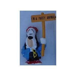 Droopy Dog PVC By Applause 1990 With Sign & Black Pants