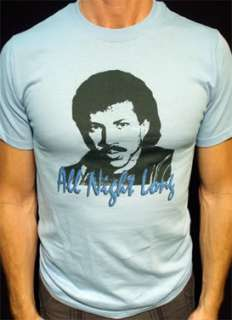 Lionel Richie t shirt vtg tour all night long style 02