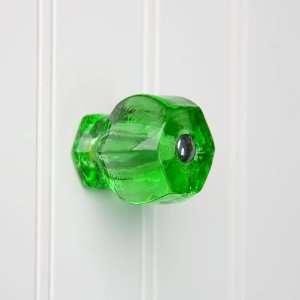 Large Emerald Green Glass Cabinet Knob