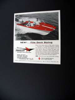 Arkansas Traveler Skijack 15 ft boat 1961 print Ad