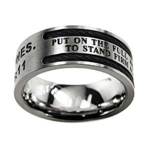 Armor of God Cable Christian Purity Ring Jewelry