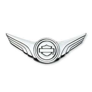 Harley Davidson Bar & Shield w/ Wings Medallion Chrome