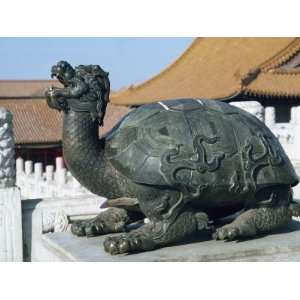 Statue of a Turtle, Symbol of Strength, in the Forbidden