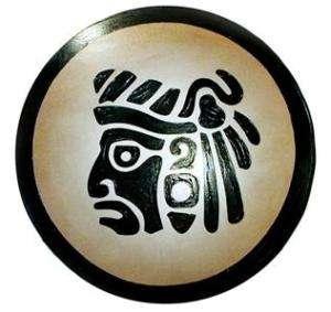 Round AZTEC WARRIOR SHIELD   sca/medieval/mexico/inca/toltec/mayan