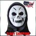 Scary Hooded Skull Mask Green Halloween Free Shipping
