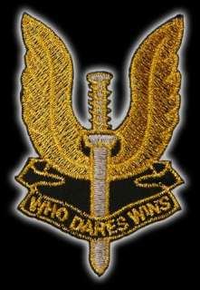Stylish Gold Embroidered SAS Special Air Service Gold Edition Logo