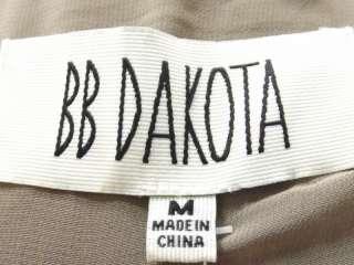 NWT $98 Womens light brown sequin formal open front jacket BB Dakota M